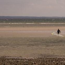 Trockene Sandbänke an der Ostsee