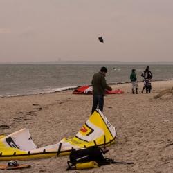 Wintersport auf der Ostsee