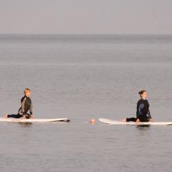 SUP-Yoga auf der Ostsee